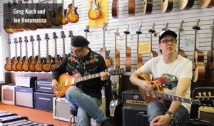 Inside Wildwood Guitars (no, alas I didn't get the chance to rock out with Joe B and Greg Koch) Photo borrowed from Wildwood Guitars